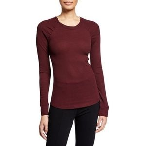 SANCTUARY Kenzie Ruched-Sleeve Thermal Top  XXL